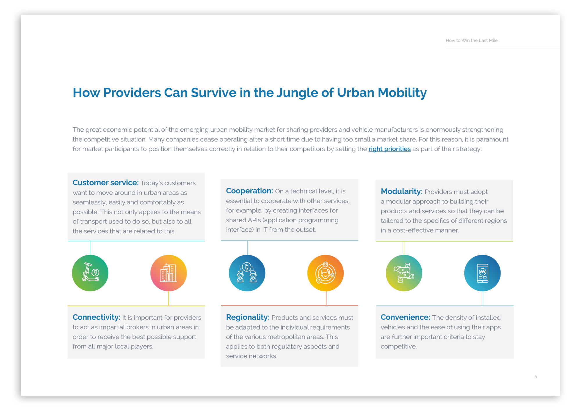 Surviving in the Urban Mobility Jungle